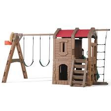 naturally playful adventure lodge play center kids swing set step2