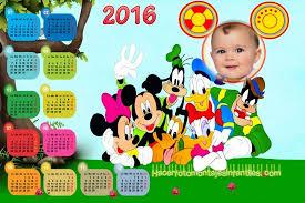 fotomontaje de calendario 2015 minions con foto hacer fotomontaje de calendario 2016 mickey fotomontajes infantiles