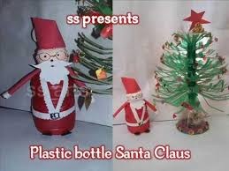 how to make santa claus with plastic bottle decoration