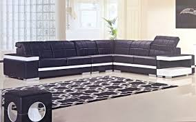 Black And White Modern Rug by Black And White Living Room Ideas Plant In Pot Black Modern Sofa
