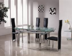 Black Glass Extending Dining Table 6 Chairs Delta Mega Extending Glass Chrome Dining Table And Chairs