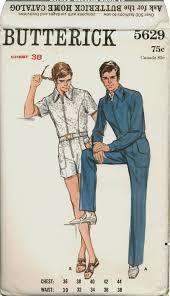 mens one jumpsuit 1960 s s one jumpsuit butterick pattern 5692 s