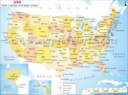 States Map Of Usa by Map Of The United States With Major Cities My Blog