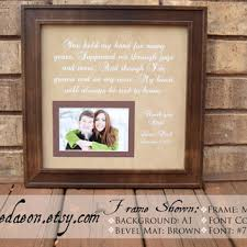 wedding gift from parents wedding frame gift to parents groom from framedaeon on etsy