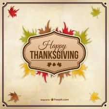 happy thanksgiving vector with autumn leaves vector free vector