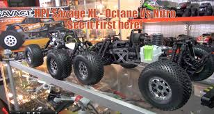 rc monster truck nitro hpi savage xl octane vs nitro see it first here youtube