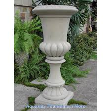 tall fluted urn planter this store offers many different textures