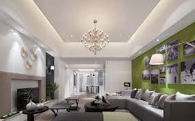 false ceilings in rectangular drawing room home combo