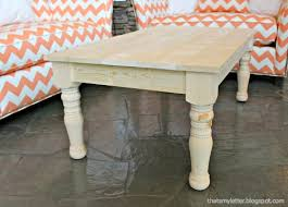 Coffee Tables Legs White Turned Leg Coffee Table Diy Projects