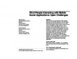 How To Interact With Blind People Blind People Interacting With Mobile Social Applications Open