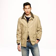 jew barbour seadale jacket in natural for men lyst