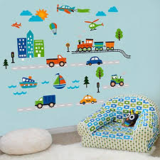 Amazoncom  CherryCreek Decals Transportation And City Scene Kids - Kids rooms decals