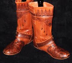 buy womens leather boots custom order mehndi henna burned s leather boots clogs