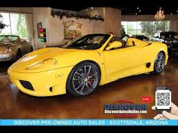 2001 360 spider for sale sold 2001 360 spider f1 convertible for sale scottsdale