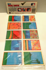 vtg 1989 mlb baseball cards colorforms window clings stickers 1