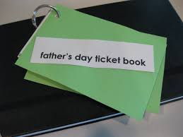 father u0027s day ticket book