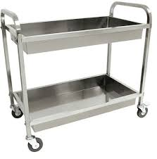 Stainless Steel Kitchen Island Cart by Utility Cart With Wheels Rolling Serving Carts Storage Trolley