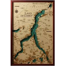 Lake Como Italy Map Lake Como Map Laser Cut 100 Made In Italy