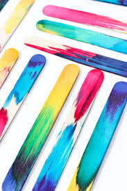 science art idea dip dyed craft sticks project babble dabble do