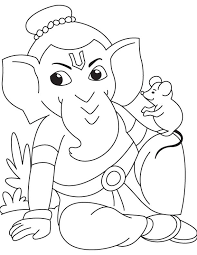 lord ganesha mouse coloring download free lord ganesha