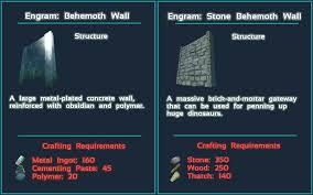 Ark Blueprint List Steam Workshop Behemoth Wall Mod