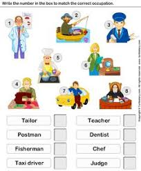 jobs exercise matching picture with name and description esl