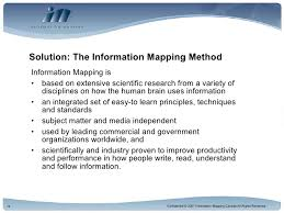 information mapping information mapping solutions for the financial services industry