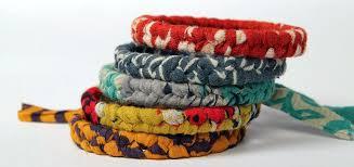 free set bracelet images Braided sari bracelet reds jpg