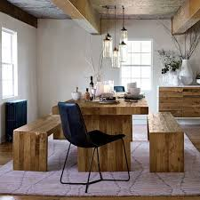 Rustic Dining Tables With Benches Emmerson Reclaimed Wood Dining Table West Elm