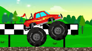 monster truck kids videos monster truck video kids truck stunts u0026 actions cartoons for