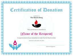 sample text for certificate of appreciation 7 printable donation certificates templates