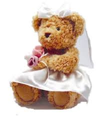 flower girl teddy gift bridesmaid or flower girl personalised teddy gift table