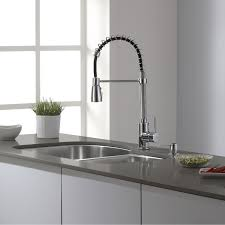 single handle pull down kitchen faucet polished chrome finish