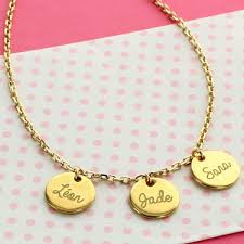 Personalized Charm Necklaces Personalized Tags Necklace