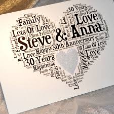 30 wedding anniversary personalised 30th wedding anniversary sparkle card by sew