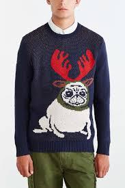 pug sweater character pug reindeer sweater reindeer sweater and