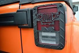 custom jeep tail light covers jeep tweaks black jk tail light guards for 07 18 jeep wrangler