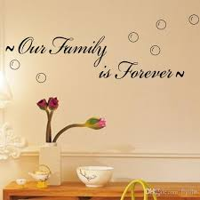 Our Family Is ForeverSpiritual Quotes On Home Family Wall Decals - Family room wall decals