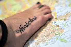 World Map Tattoo Wrist by Travel Tattoos