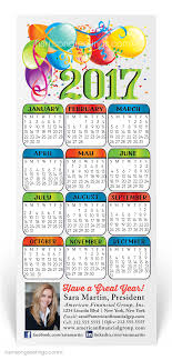 2017 happy new year calendar card 650cal harrison greetings