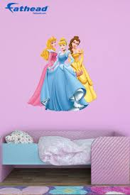 46 best disney princess themed bedroom images on pinterest disney princess diy girls bedroom decor fathead wall decals are easy to put up