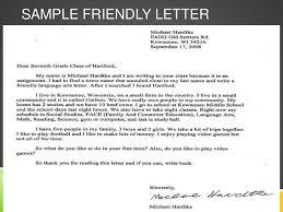 sample friendly letter format friendly letter sample format