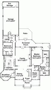 traditional colonial ranch house plans design and office southern