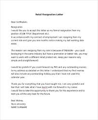 basic resignation letter sample 6 documents in pdf word