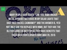 can you use regular batteries in solar lights can you use nimh batteries instead of nicd in solar lights youtube