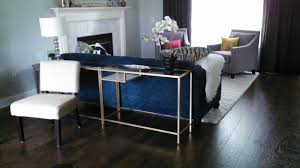 furniture glass top console tables ikea with blue sofa and