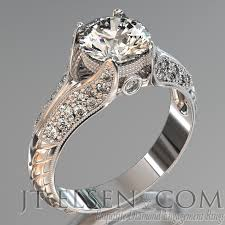 rings with brilliant images Pave diamond enagement rings antique style engagement ring round jpg