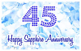 45th wedding anniversary happy 45th sapphire wedding anniversary greeting e card