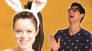 halloween costumes for 4 people boyfriends choose their girlfriends u0027 halloween costumes youtube