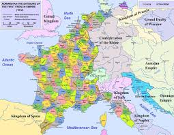 map of the départements of france at the first french empire u0027s